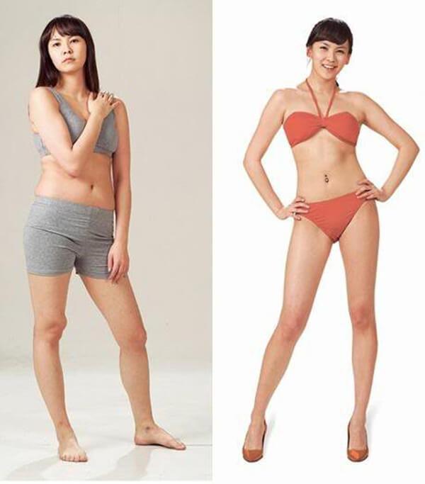 Kết quả sau khi sử dụng cà phê giảm cân và chăm chỉ tập thể dục hàng ngày