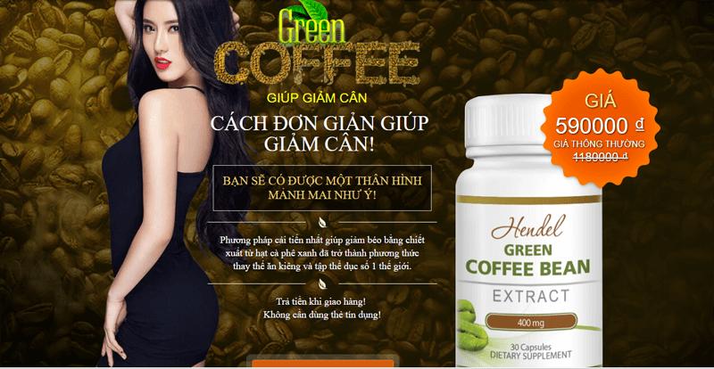Mua cà phê giảm cân Green Coffee chính hãng