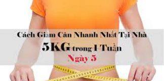 Cách giảm 5kg trong 1 tuần đầy khoa học