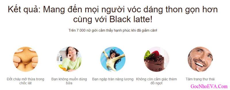 Kết quả sau khi sử dụng giảm cân Black Latte
