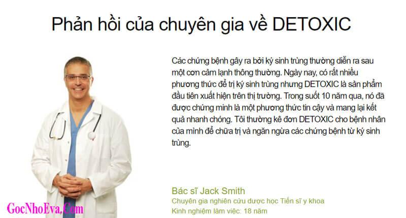 Đánh giá của chuyên gia về thuốc Detoxic
