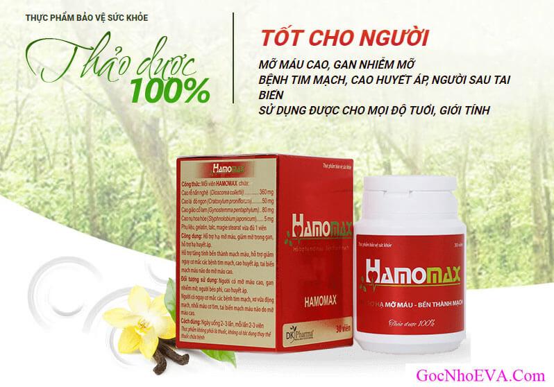 Hamomax – Đẩy lùi mỡ máu, mỡ gan và các bênh tim mạch.