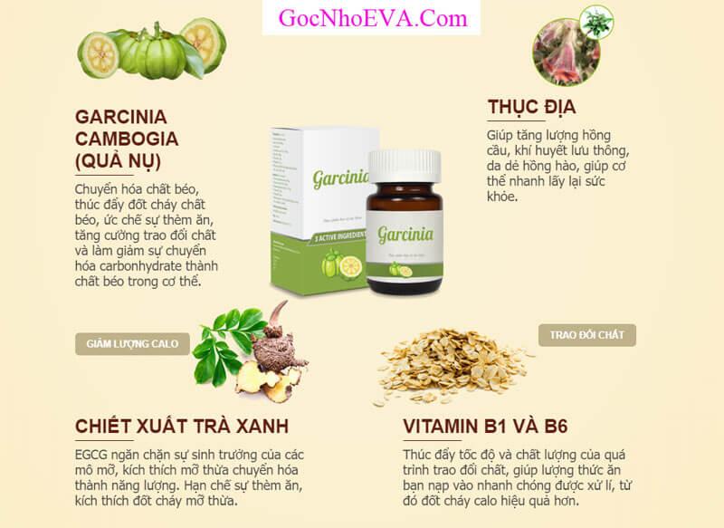 Thành phần thuốc giảm cân Garcinia - Thành phần thiên nhiên 100%
