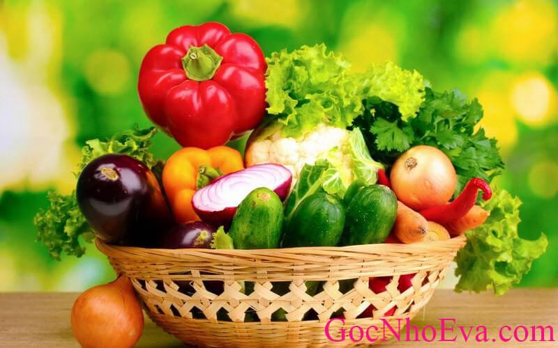 thực đơn giảm béo 1 tuần 2kg đủ rau củ quả