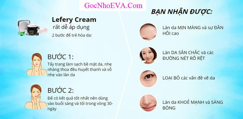 Hướng dẫn cách sử dụng kem chống lão hóa Lefery Cream hiệu quả nhất