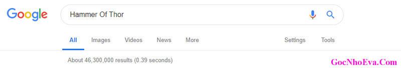 Số lượng người tìm kiếm Hammer Of Thor trên Google