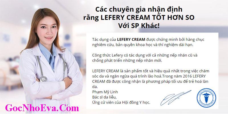 Nguồn gốc Xuất xứ của Lefery Cream và đánh giá của chuyên gia