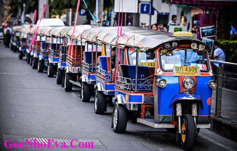 Trải nghiệm du lịch Thái Lan với xe Tuk Tuk