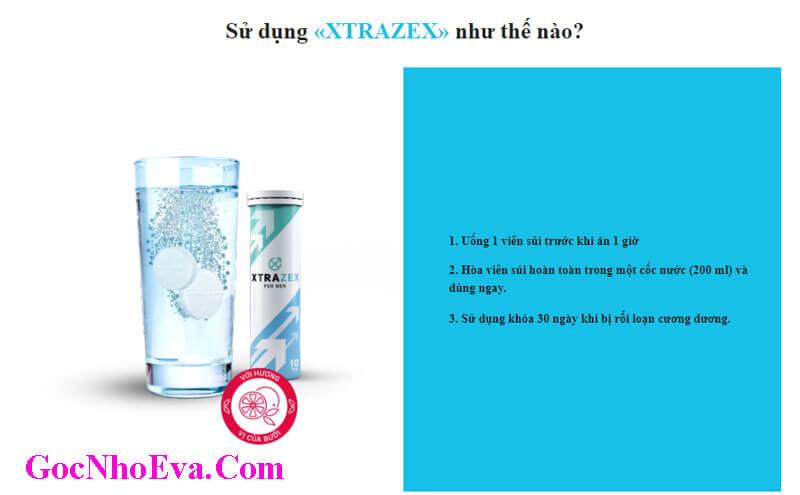 Hướng dẫn sử dụng Xtrazex hiệu quả