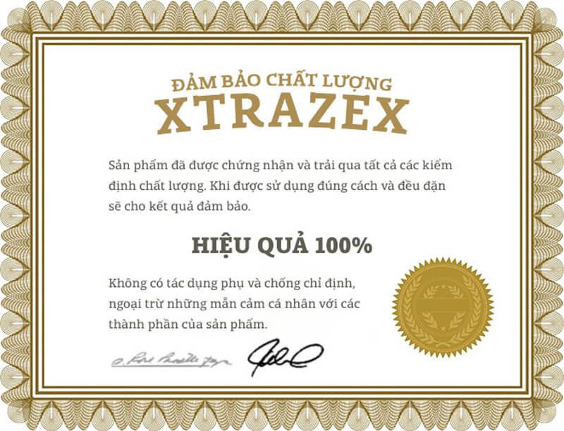 Cam kết chất lượng sản phẩm Xtrazex