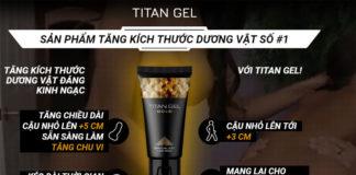 Thuốc Titan Gel Gold tăng kích thước dương vật mới 2019