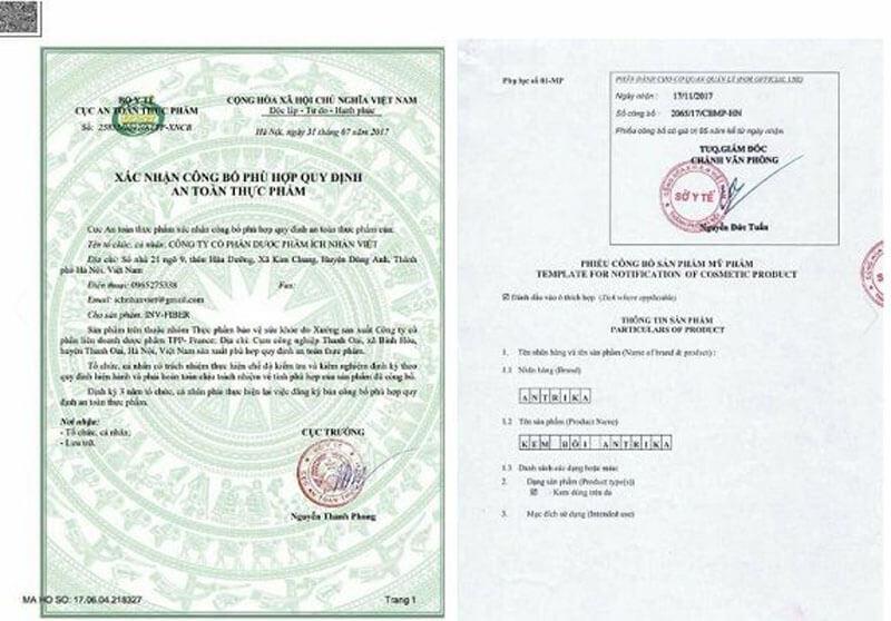 Bộ Y Tế cấp giấy phép hoạt động cho An Trĩ Khang