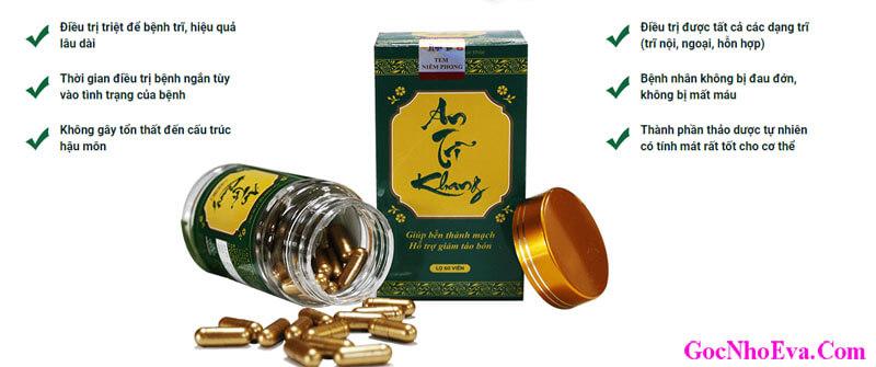 Tác dụng chính của thuốc An Trĩ Khang