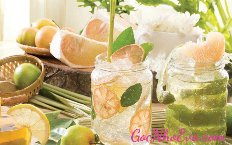 Detox trà xanh, vỏ chanh và xả thức uống giảm cân nhanh nhất