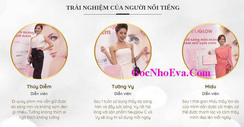 Review viên sủi trắng da Neuglow C bởi các ngôi sao Showbiz Việt