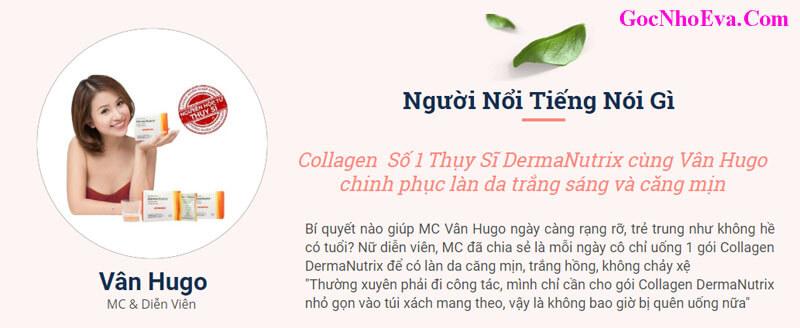 Vân Hugo chia sẻ về Collagen DermaNutrix Chính Hãng