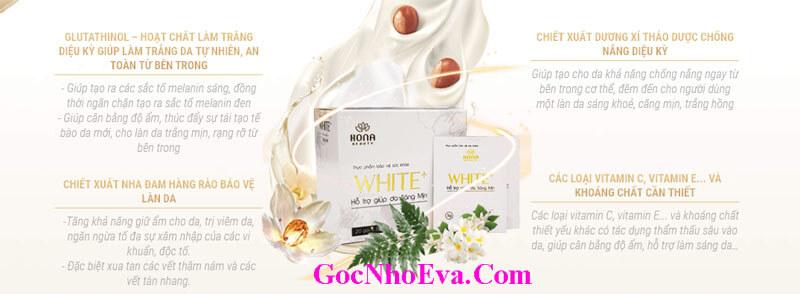 Cốm trắng da White Plus thành phần tự nhiên 100%