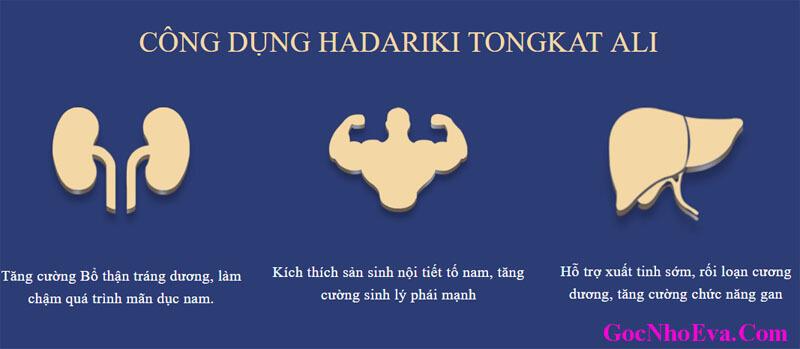 Công Dụng thuốc tăng Cường Sinh Lý Nam Hadariki Tongkat Ali
