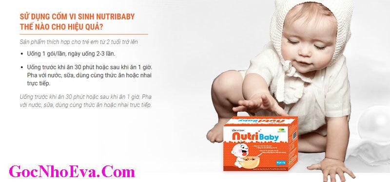 Hướng dẫn cách sử dụng Nutribaby hiệu quả an toàn cho bé