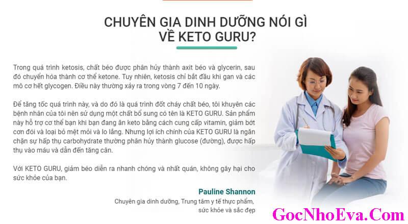Chuyên gia nói gì về viên sủi giảm cân Keto Guru