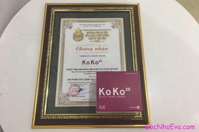 Giấy chứng nhận Cao khô hà thủ ô collagen KoKo 25