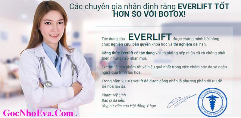 Chuyên gia nhận xét về Kem EverLift chính hãng