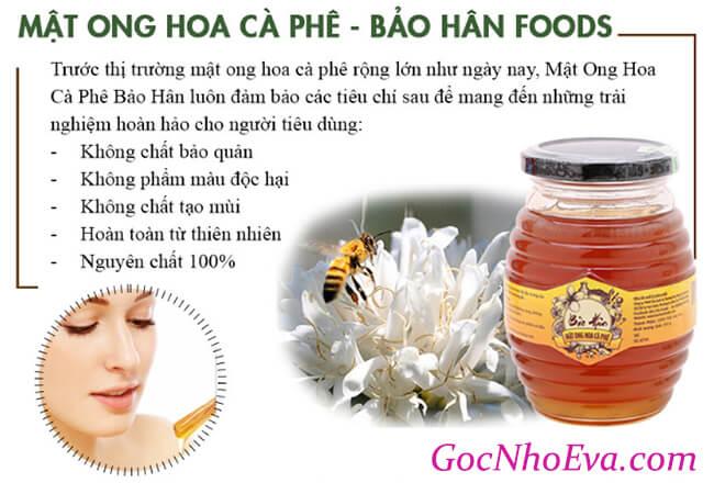 công dụng của mật ong hoa cà phê