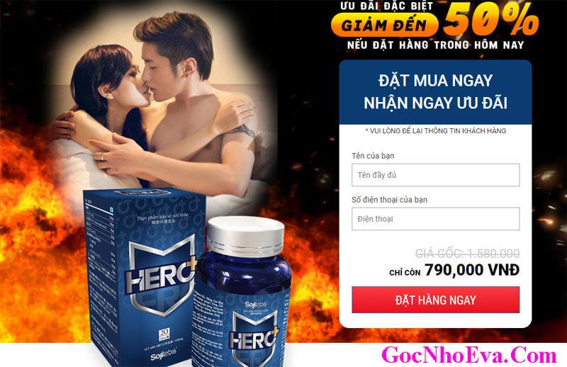 Thuốc Hero+ ưu đãi khuyến mãi giảm giá 50% hôm nay