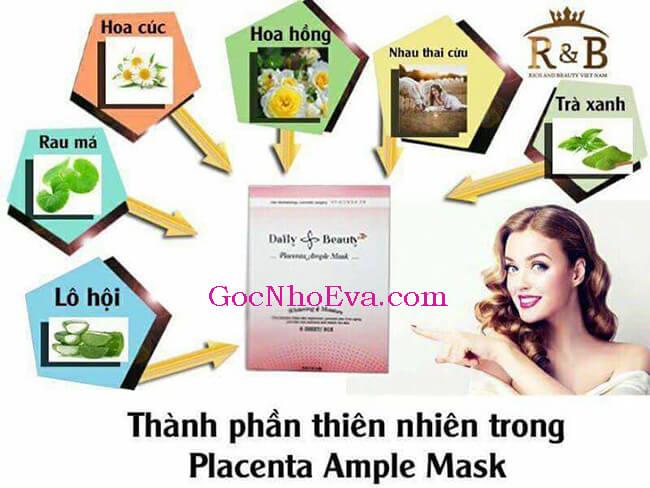 thành phần của mặt nạ Placenta ample mask