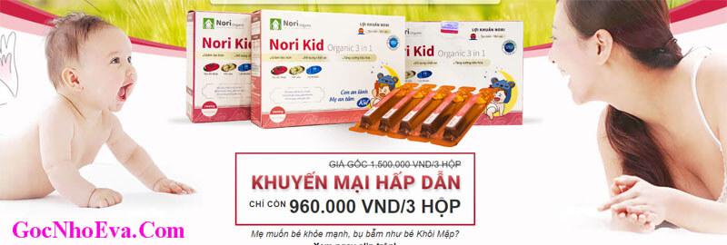 Lợi khuẩn Nori Kid Organic ưu đãi giảm giá SHOCK