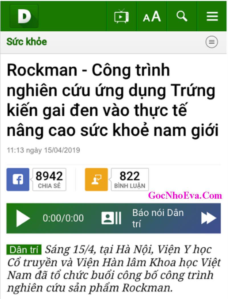 Báo Dân Trí nói gì về RockMan chính hãng