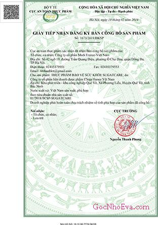 giấy phép sản phẩm sugatcare