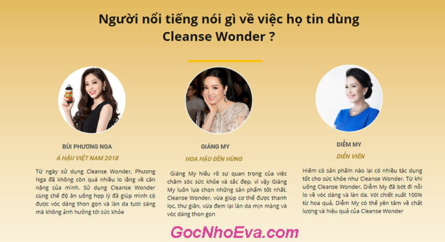 phản hồi Cleanse Wonder