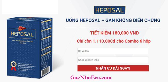 Giá bán Heposal chỉ còn 1.100.000 vnđ cho combo 6 hộp