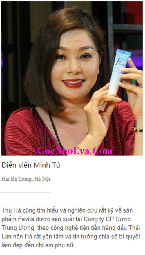 Diễn viên Minh Tú chia sẻ cảm nhận khi sử dụng Favita