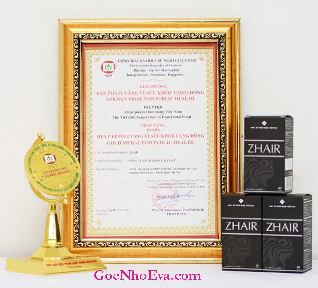 Chứng nhận sản phẩm Zhair