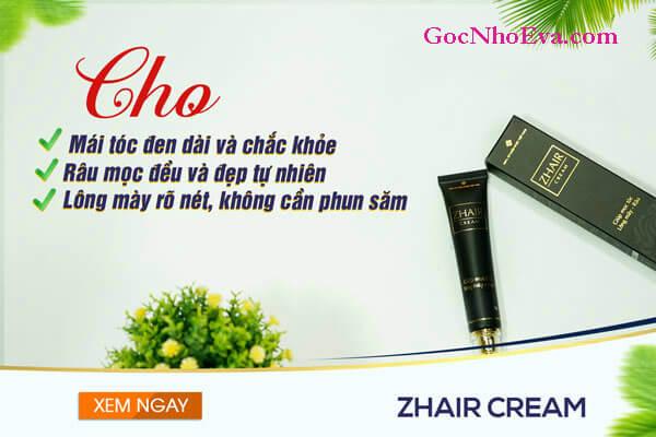 Lưu ý cần thiết khi sử dụng kem kích thích mọc tóc Zhair Cream