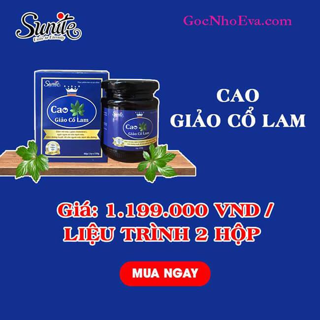 Cao Giảo Cổ Lam giá chỉ 1.199.000/2 hộp/1 liệu trình