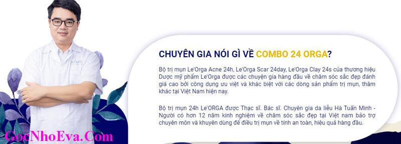 Bác Sỹ Hà Minh Tuấn nhận xét về Combo 24 Orga