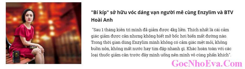 Biên tập viên Hoài Anh của VTV chia sẻ về Enzylim