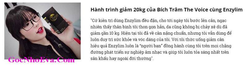 Diễn viên Thu Trang Review giảm cân Enzylim