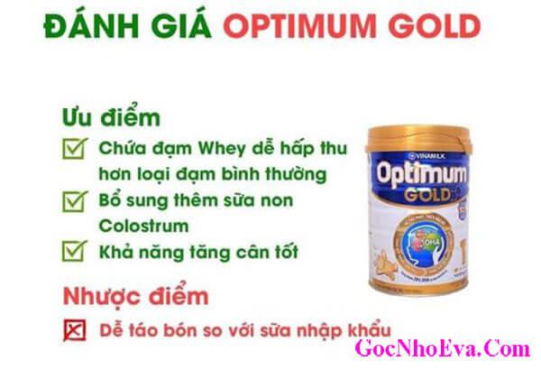 Sữa tăng cân cho trẻ nhỏ Optimom Gold