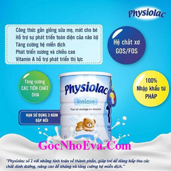 Sữa tăng cân cho trẻ nhỏ Physiolac