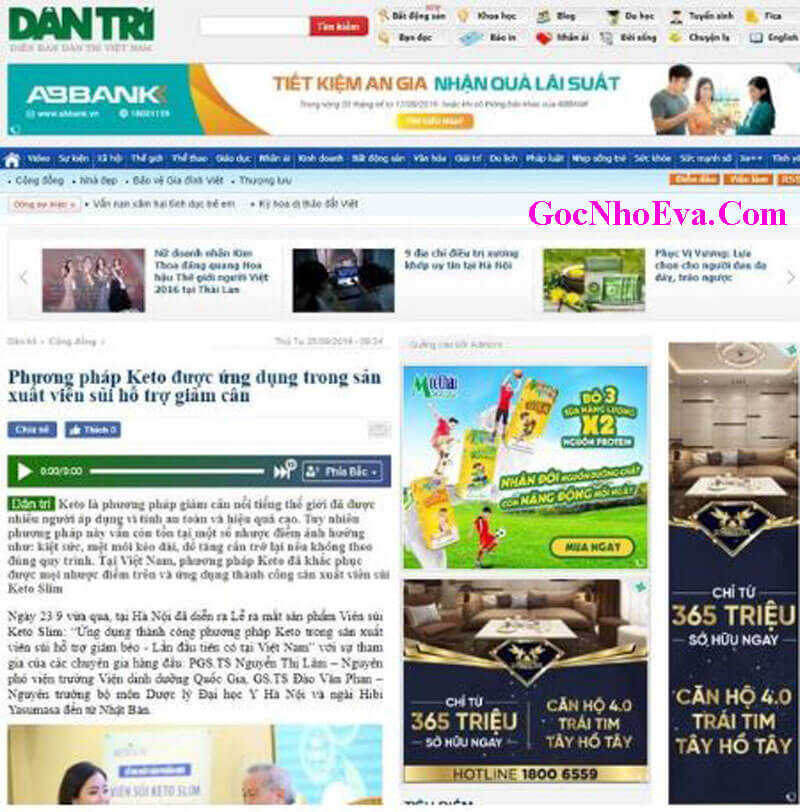 Báo chí cảnh báo về viên giảm cân Keto Slim