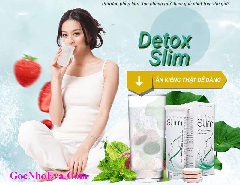 Viên sủi giảm cân Detox Slim Chính Hãng