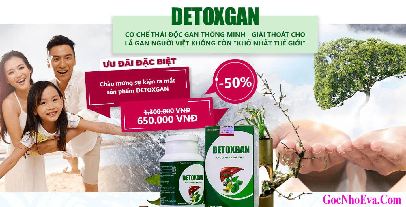 Viên uống DetoxGan Chính Hãng Ưu Đãi Giảm Giá 50%