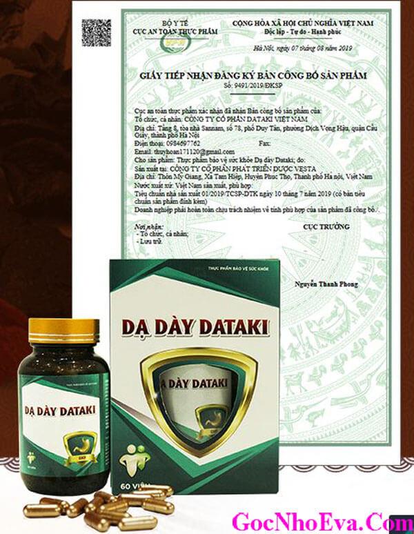 Dataki Chính Hãng Được Bộ Y Tế Cấp Phép