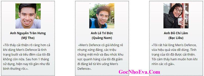 Đánh Giá Của Khách Hàng Về Men's Defence