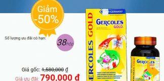 Viên Sủi Gercoles Gold Chính Hãng